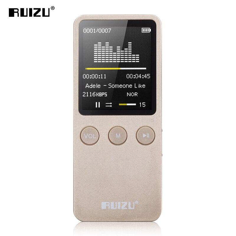 Ruizu X08 Flac sans perte Hifi numérique écran Audio Mp 3 musique lecteur Mp3 8 GB avec casque haut-parleur Radio FM Support TF Micro SD