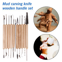 Hot Clay Sculpting Sculpt Smoothing Wax Carving Pottery Ceramic Tools Polymer Shapers Modeling Carved Knife Wood Handle Set top sale clay sculpting sculpt smoothing wax carving pottery ceramic tools polymer shapers modeling carved knife wood handle set