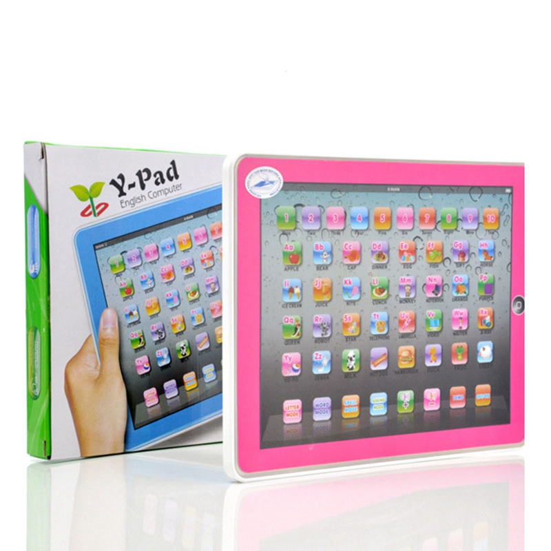 New Pink And Blue Y-pad Touch Voice Learning Machine English ABC Learning Machine Wholesale Puzzle For Childrens Toy