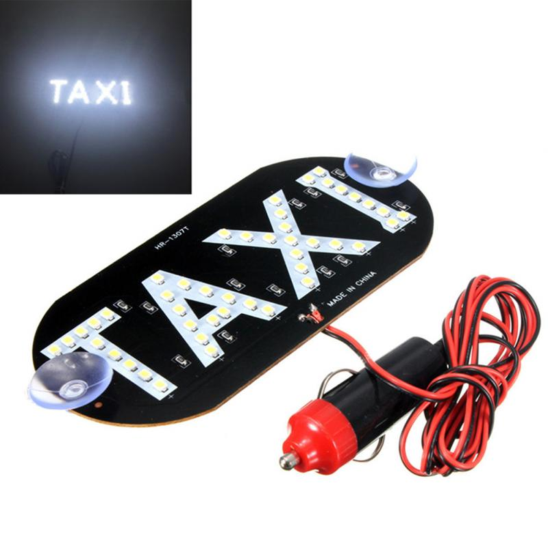Taxi Empty Light LED Auto Green 45 LED Cab Taxi Roof Sign Light 12V Vehical Inside Windscreen Lamp Auto Bulb Signal Light 12v taxi magnetic base roof top cab led sign light lamp with cigarette lighter