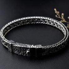100% 925 Thai Silver Bracelets for Men