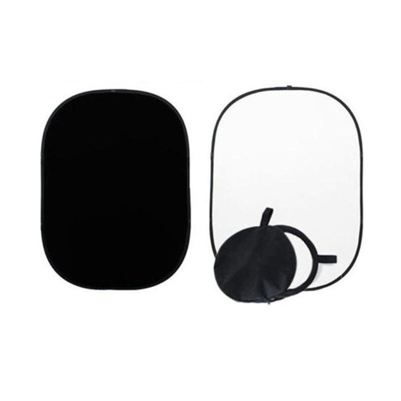 Meilleures Offres 2x1.5 m Noir/Blanc Toile de Fond Réversible Studio Pliable Muslin Fond Photo Studio Accessoires