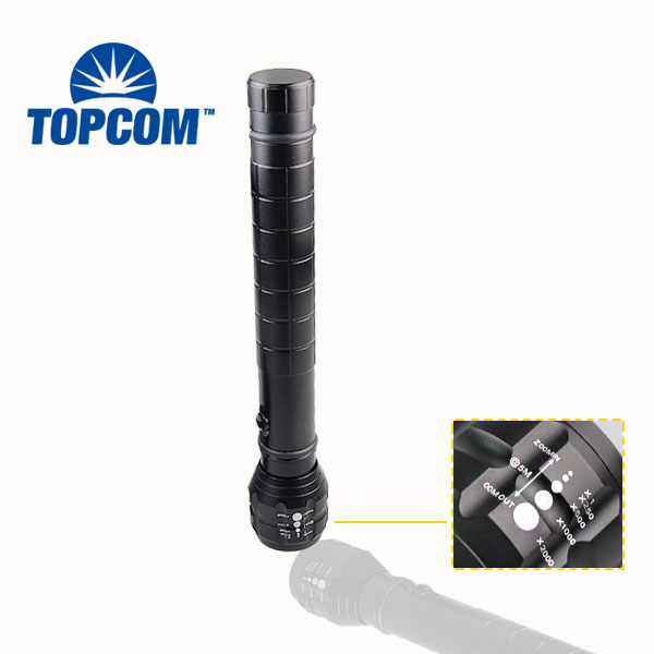 Led Flashlights Have An Inquiring Mind Topcom Military-grade Heavy Duty Big Flashlight Torch Led Light Q5 Aluminum Zoom Black Matt Body No Compass 18650 Or 3d Attractive Designs;