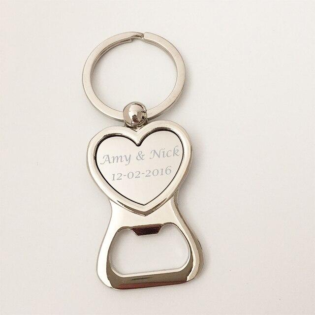 Populaire 100 Anniversaire De Mariage Partie Faveur Personnalisé Porte clés  HY95