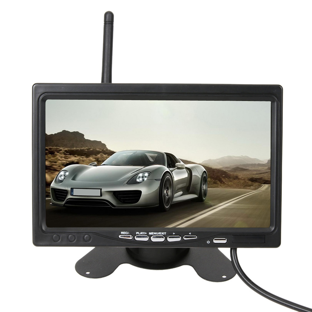 7 inch TFT LCD wireless rear view display CMOS infrared night vision Backup Camera Kit 24V truck bus parking system