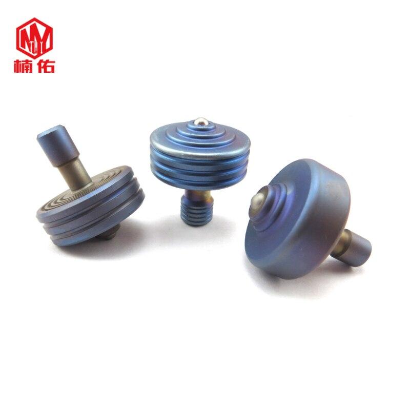 1PC  Adult Decompression Gyroscope Titanium Alloy Gyro High Strength Low Resistance Creative Metal Toy Gyro EDC Pocket Tool