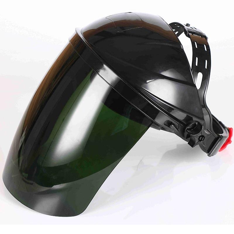 Welding Protective Mask The Head-mounted Anti-shock Anti-splash Mask Organic Plastic Working Safety Welding Cap Adjustment knob
