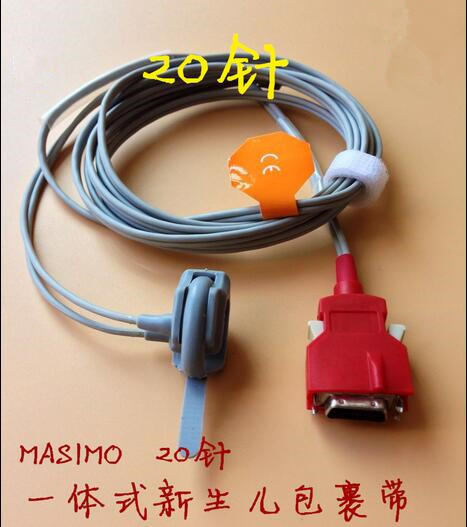 Compatible For Masimo 20 Pin 2053 RED DCI-DC3 Infant/Neonate Wrapped Spo2 Sensor Spo2 Probe Pulse Oximeter Probe TPU 3m/9ft mindray neonate wrap spo2 sensor length 3 meter 5pin spo2 probe medical tpu cable