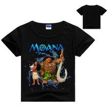 Summer Boys T shirt Popular Moana Cotton Short-sleeved Printing T-shirt Kids Girls Cartoon Clothes DS19