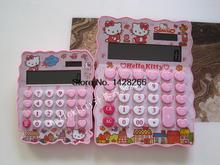 Hello Kitty Creative Solar Calculator Irregular Edge Desktop Calculating SpongeBob& Doraemon Cute Kawaii Cartoon Gift for Kids