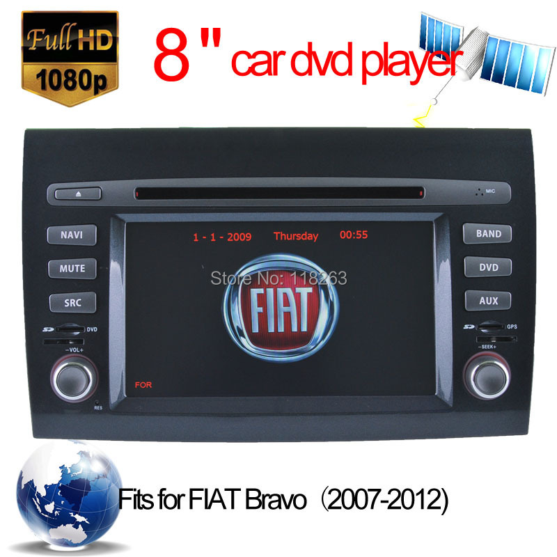 gps navigation auto stereo Fiat Bravo Car DVD Player GPS Navigation Autoradio Multi language Bluetooth iPod - Hualingan Technology Co., Ltd store