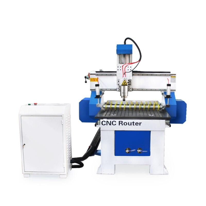Mchuang Mini 6090 CNC routeur 3 axes vide adsorbant roue de presse 3.2kw