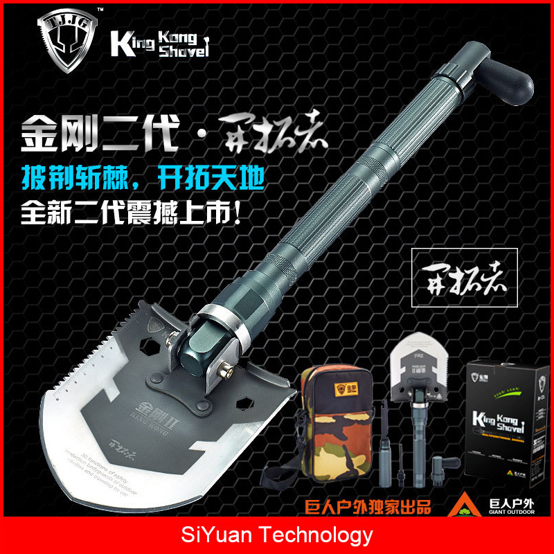 Military Survival Folding Shovel and Pick with Carrying Pouch for Camping, Hiking, Backpacking, Fishing, Car Emergency Shovel professional military tactical multifunction shovel outdoor camping survival folding sapper shovels 2017 hot