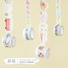 Rainbow Watercolor Stars Crystal Diamonds Raindrop Candy Happy Life Deco Washi Tape DIY Planner Diary Scrapbooking Masking Tape