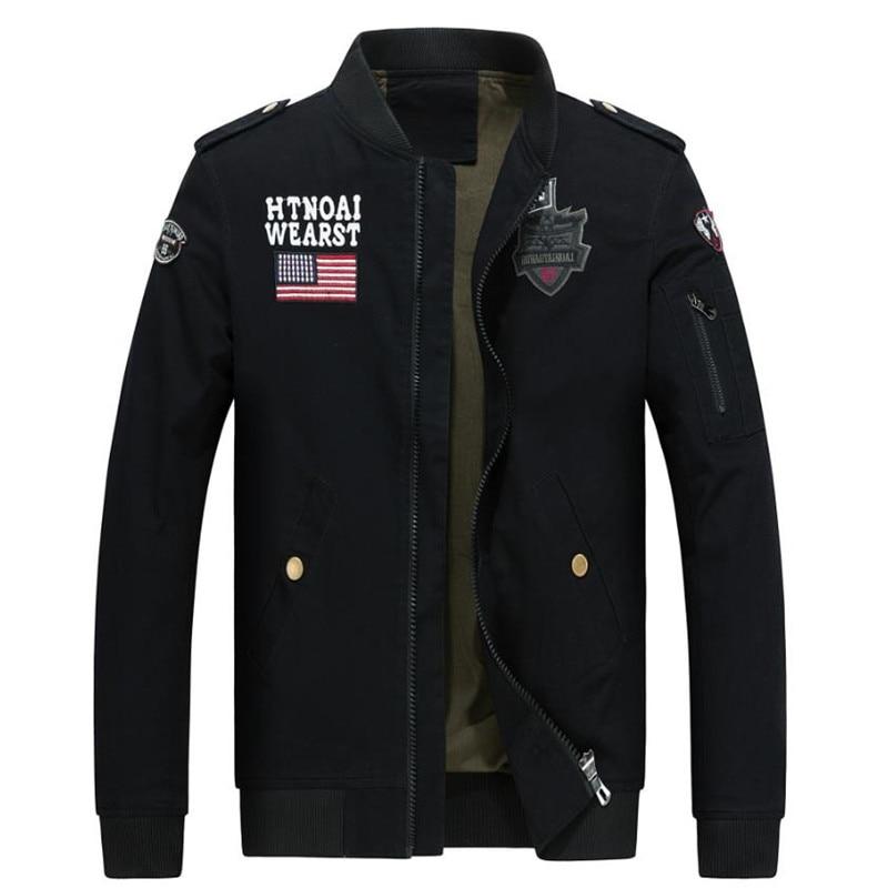 2017 nuevos hombres chaqueta de primavera chaqueta bombardero Marca - Ropa de hombre - foto 1