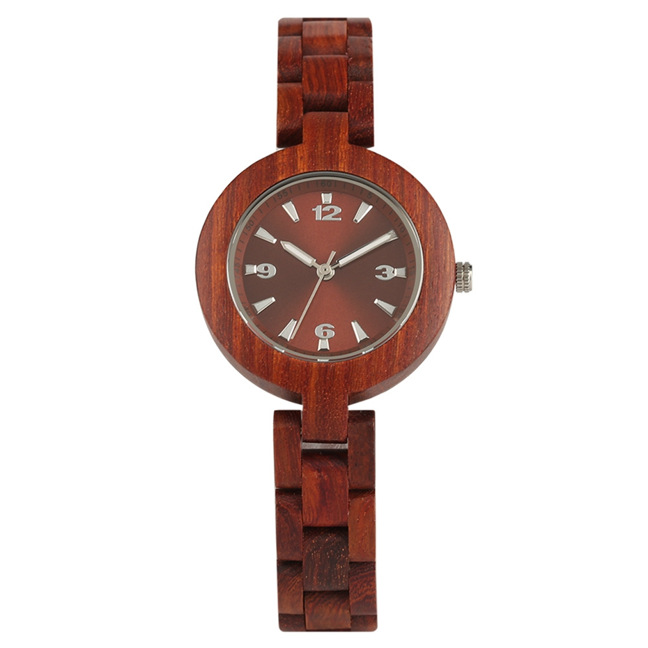 Women's Wood Watches Top Brand Unique Little Cute Dial Quartz Clock Ladies Dress Wooden Bangle Watch Environmentally reloj mujer 2018 2020 2019 (1)