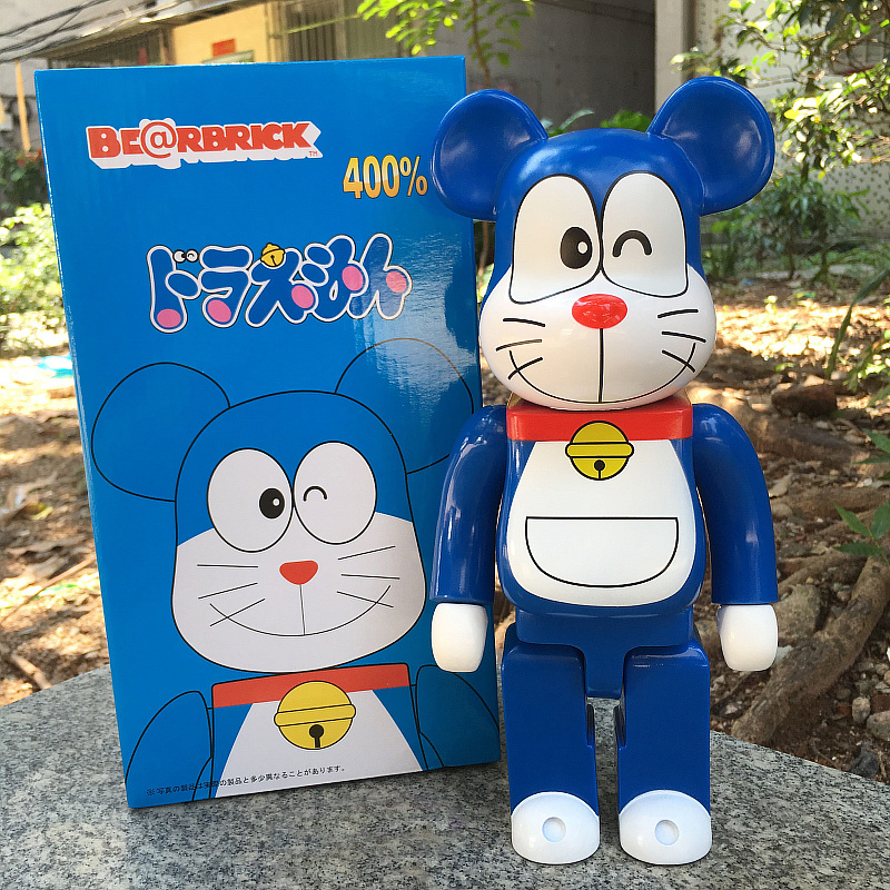 New 11inch 400% Bearbrick Be@rbrick Doraemon Model PVC Action Figure Collectible Toy fashion toy Gifts IN STOCK high quality oversize 52cm bearbrick be rbrick matt diy pvc action figure toys bearbrick blocks vinyl doll 3 color optional