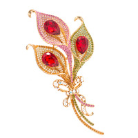 Luxurious Rhinestone Crystal Big Flower Brooch Pin Broach For Woman Jewelry Free shipping SBA3844
