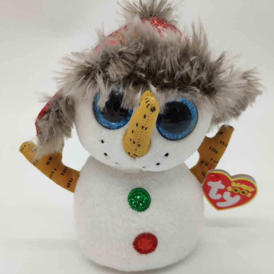 2549472a5fa buttons snowman with heart tag and tush label TY BEANIE BOOS COLLECTION  15CM 6
