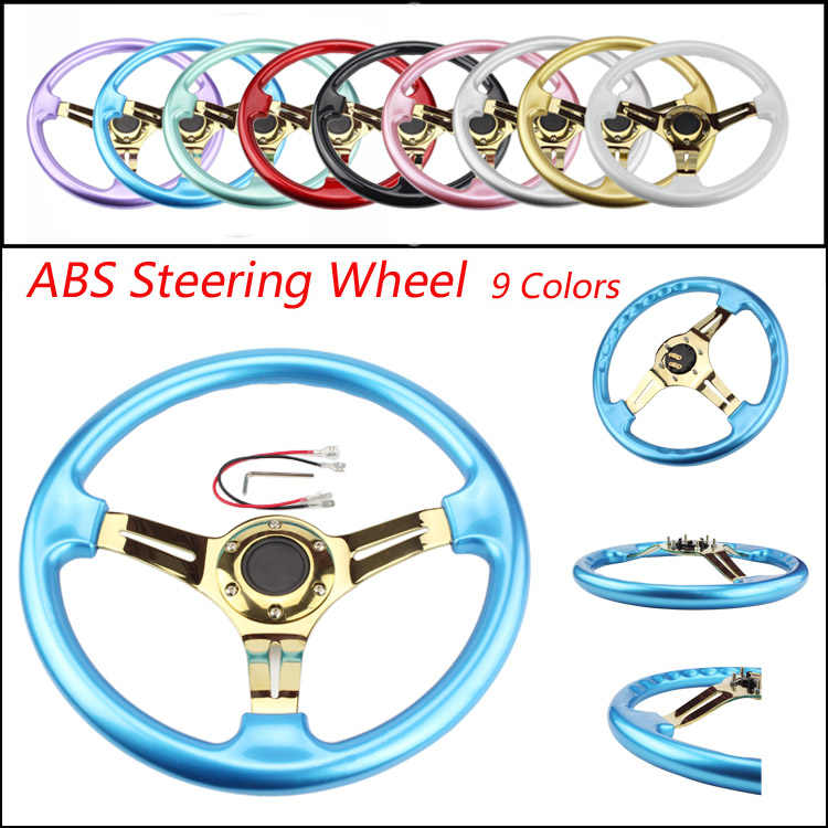 CNSPEED Gold New 350mm 14inch Steering Wheel ABS Steering Wheel