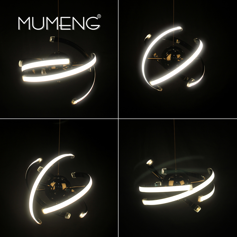 Mumeng LED Ball Pendant Light 23W Modern Acrylic Kitchen