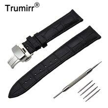 14/16/18/19/20/21/22/23/24mm Bracelet de montre en cuir véritable pour Frederique Constant en acier inoxydable boucle sangle Bracelet de ceinture Bracelet