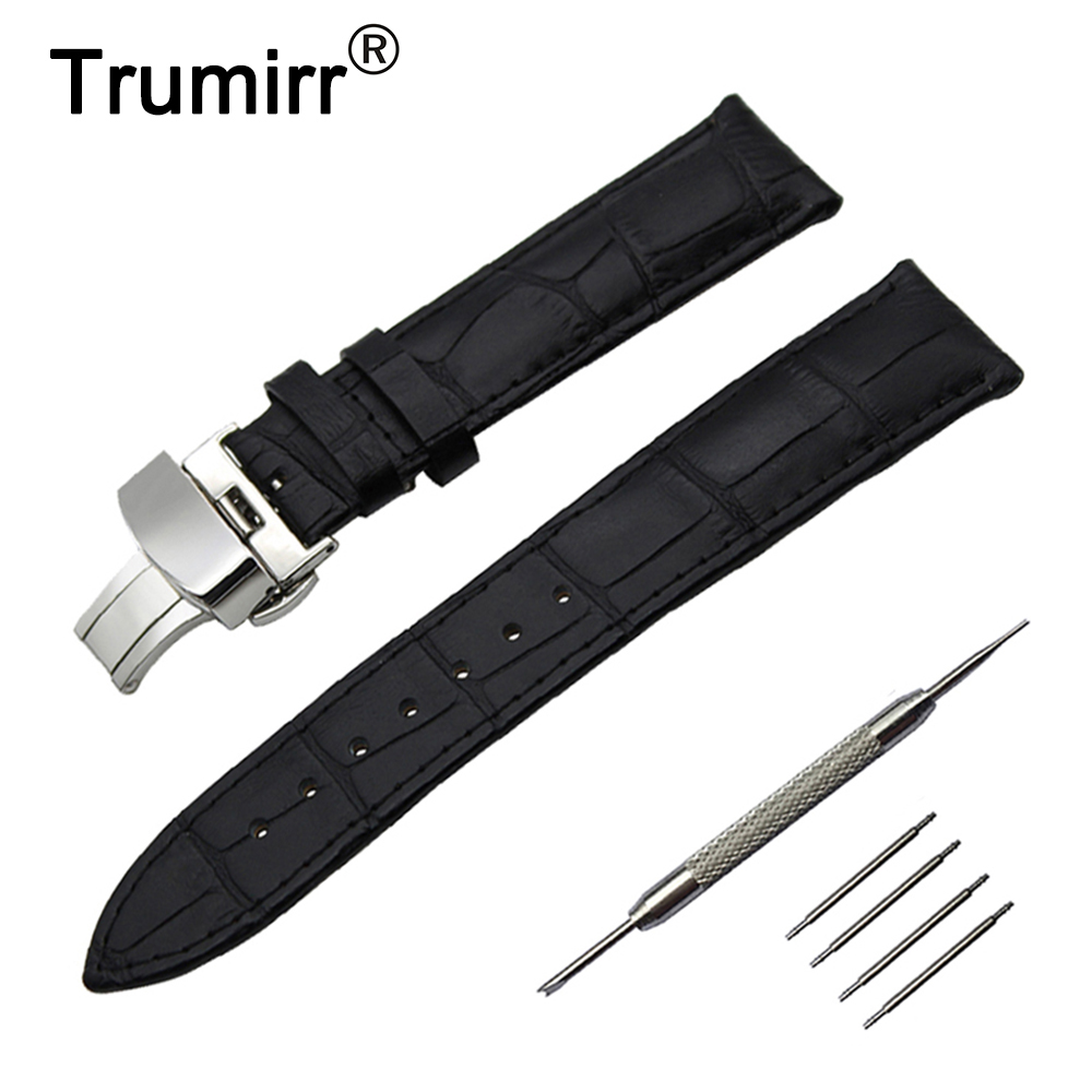 14/16/18/19/20/21/22/23/24mm Genuine Leather Watch Band for Frederique Constant Stainless Steel Buckle Strap Wrist Belt Bracelet