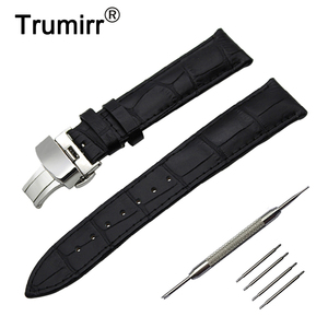 Image 1 - 14/16/18/19/20/21/22/23/24mm Genuine Leather Watch Band for Frederique Constant Stainless Steel Buckle Strap Wrist Belt Bracelet