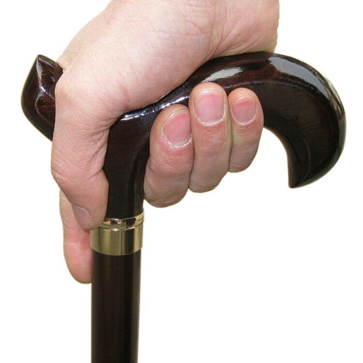 Soft mat wooden cane cane saw the elderly walking short wooden crutch