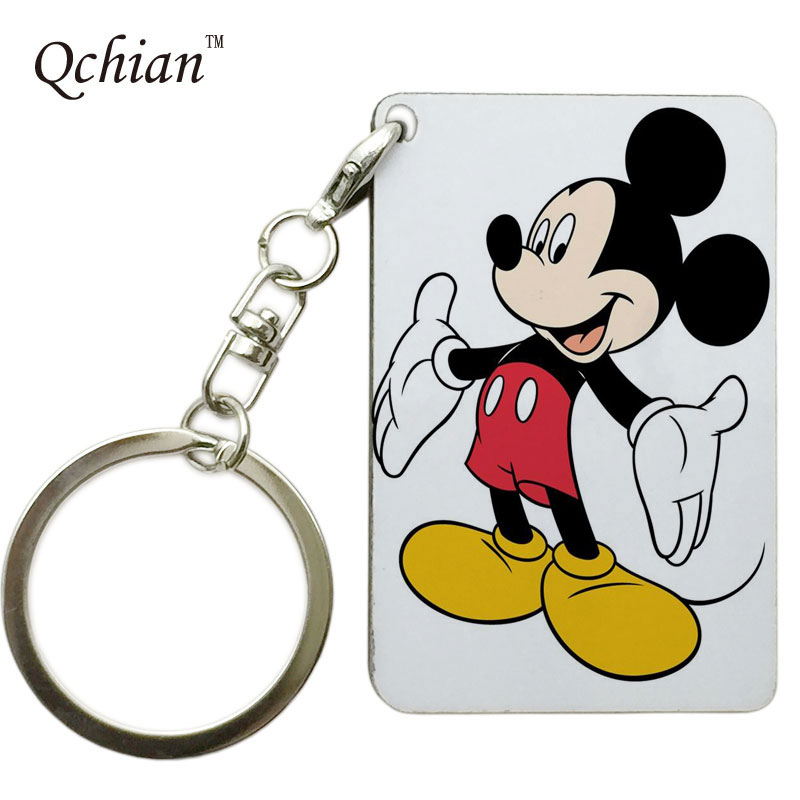 Hot Sale Mickey and Minnie Mouse for Woman Chidren Printed Keychain Keyholder Gift