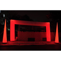 Inflatable Led Lighting Arch Led Light Wedding Arch way,colorful lighting inflatable arch with led for party,event decoration