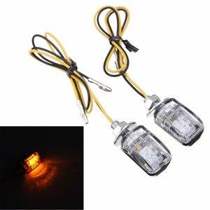 Image 5 - 1 쌍 6LED 12V 오토바이 미니 턴 신호등 앰버 블 링커 표시기 크루저 쵸퍼 투어링 듀얼 용 작은 직사각형 램프