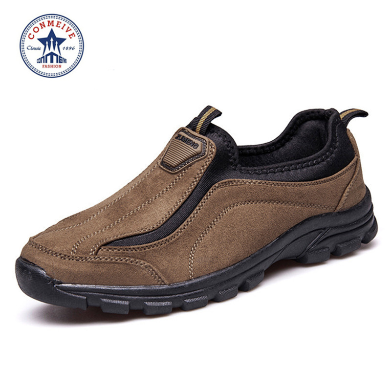 Spesialtilbud Medium (b, m) Vandringssko Slip-on Leather Outdoor 2016 Trek Suede Sport Menn Klatring Outventure Sapatos Masculino