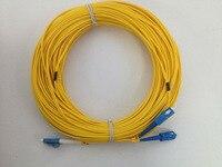 Free Shipping 50M LC/UPC to SC/UPC LC-SC Fiber Optic Patch Cord Duplex Fiber Indoor Fiber Cable SM PVC 2.0mm 50M