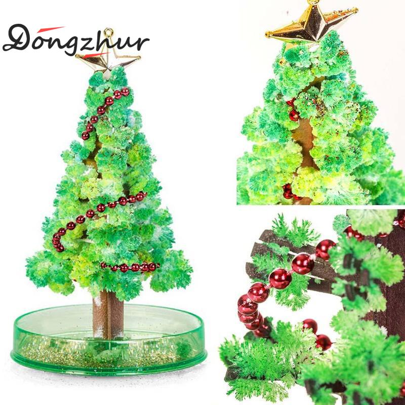 Magic Christmas Tree Kids Xmas Toy Growing Tree Visual Magic Sakura Tree Desktop Flower Tree Decorative Bonsai Growing DIY Paper