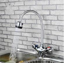 Ванная комната Двойной ручки термостатический термостатический смеситель для кухни раковина раковина кран смесителя ванная комната термостатический кран