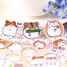 hot deal buy 40 pcs everyday hamsters are funny decoration adhesive stickers diy paper stickers diary sticker scrapbook stationery stickers
