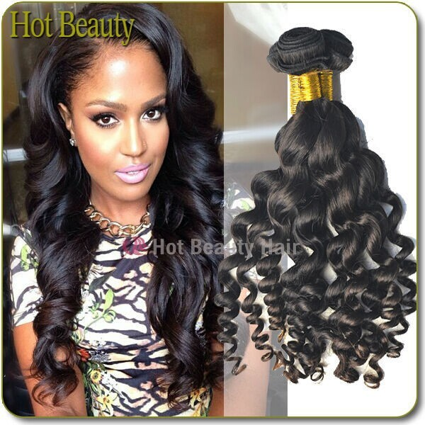 New arrival new style big curl queen weave beauty brazilian loose wave 0d35ab934a27