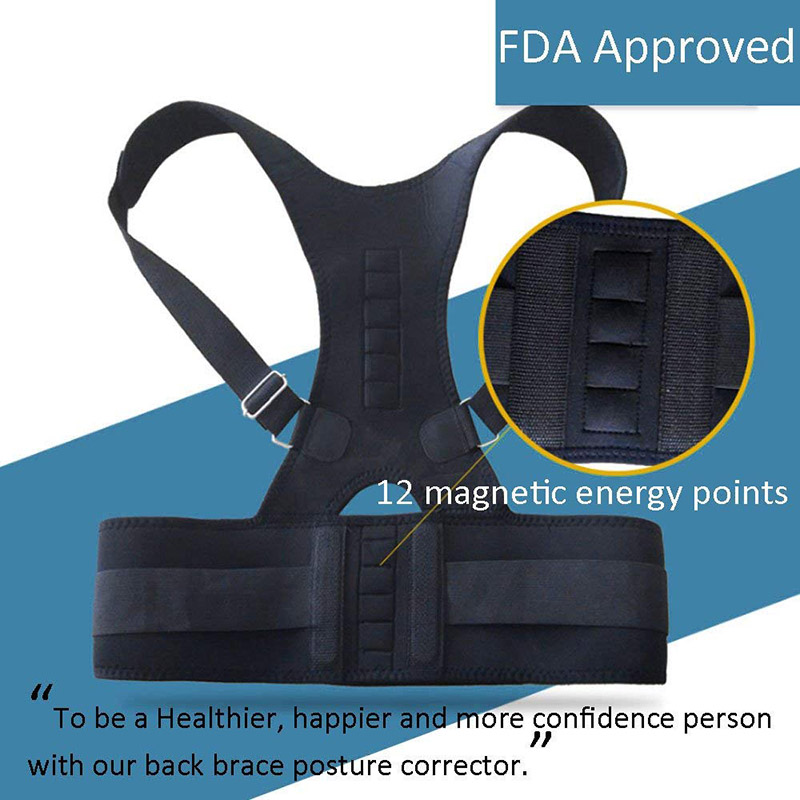 Posture Corrector Back Brace Shoulder Back Support Belt Shoulder Posture Adjust magnetic therapy for Unisex 4