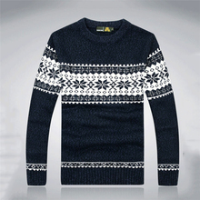 Christmas Gift Men Wool Sweater Computer Knitting Snowflake Man Pullover High Quality Winter Plus Size XXXL Hombre brand Sweter
