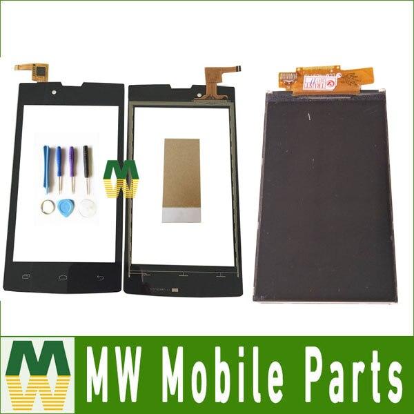 1 PC/Lot Haute Qualité 4.0 Pour Beeline Smart 6 Smart6 Séparée Écran Tactile Et Lcd Écran Affichage Noir Couleur avec des outils + bande
