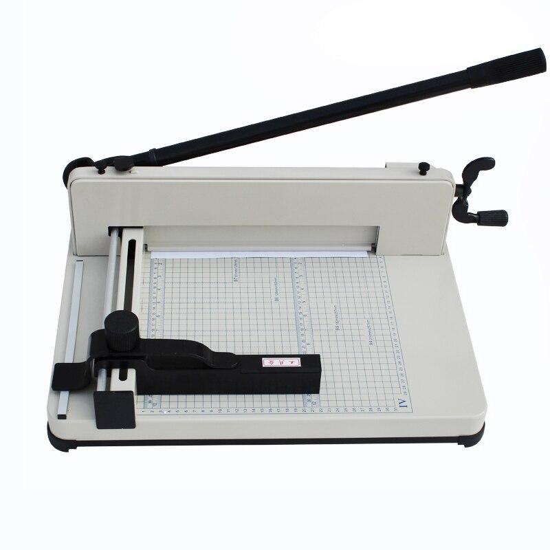 Coupe-papier machine Heavy Duty Guillotine Industrielle 200 Feuille Normale Coupe-Papier YG858-A4