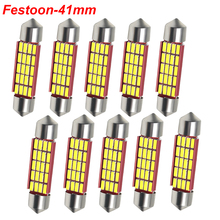 C5W C10W Festoon 41mm LED Bulbs CANBUS 4014 SMD White For Car Auto Interior Dome Map Reading Lamp License Plate Lights DC 12V цена