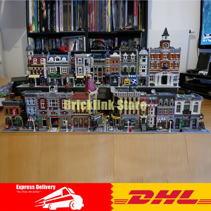 Lepin City Street 15001 15002 15003 15004 15005 15006 15007 15008 15009 15010 15011 16050 15039 Buillding Blocks Bricks Toys a toy a dream lepin 15008 2462pcs city street creator green grocer model building kits blocks bricks compatible 10185