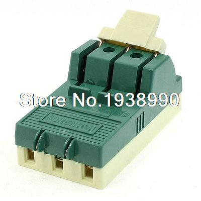 AC 380V 32A 3 Pole Single Throw Circuit Control Knife Disconnect Switch Green  цены