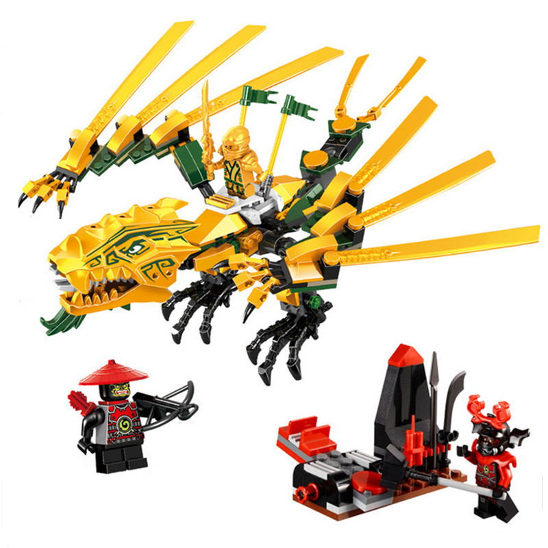 Bela 9793 Ninjagoes The Golden Dragon Building Blocks Sets Ninja font b Educational b font Toy