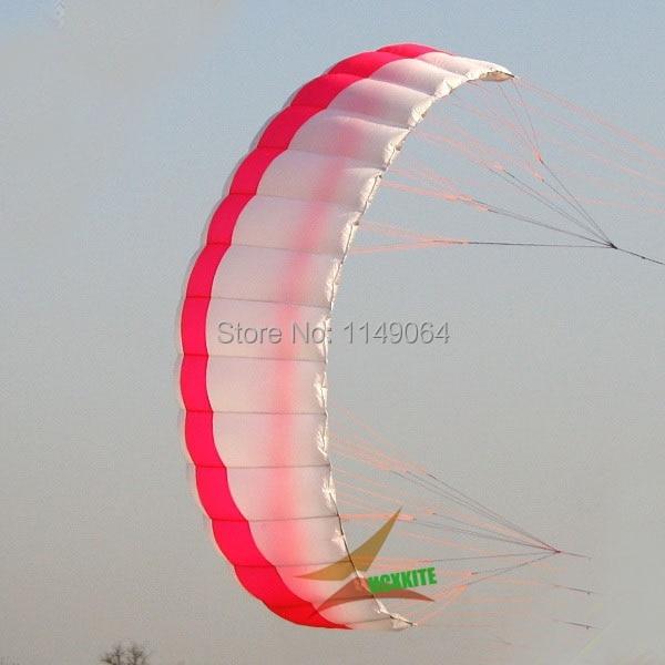 free shipping high quality 2.5sqm quad line power kite surf with handle line kite parafoil kite board ripstop nylon kite sports