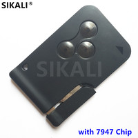 3 Buttons Car Smart Remote Key For Megane Scenic 433MHz With PCF7947 Chip Full Complete Key