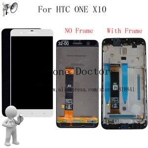 Image 1 - Новый ЖК дисплей 5,5 дюйма с Frmae для HTC ONE X10 X 10 X10w X10u, полный ЖК дисплей + кодирующий преобразователь сенсорного экрана в сборе для HTC E66 LCD