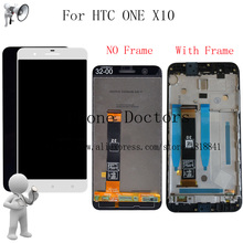 5.5 inch New LCD with Frmae For HTC ONE X10 X 10 X10w X10u Full LCD DIsplay + Touch Screen Digitizer Assembly For HTC E66 LCD